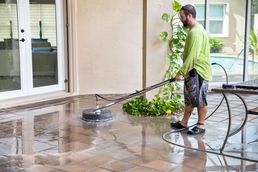 K-tech Kleening's wide range of floor and carpet cleaning services includes tile and grout cleaning.