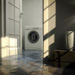 Flooding clean up after a defective washing machine flooded your home