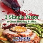 3 Simple Steps to Beat Holiday Stains blog graphic